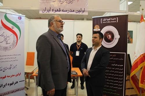بازدید رئیس محترم سازمان فنی و حرفه ای کشور و معاون وزیر کار از دستاوردهای مدرسه قهوه ایران