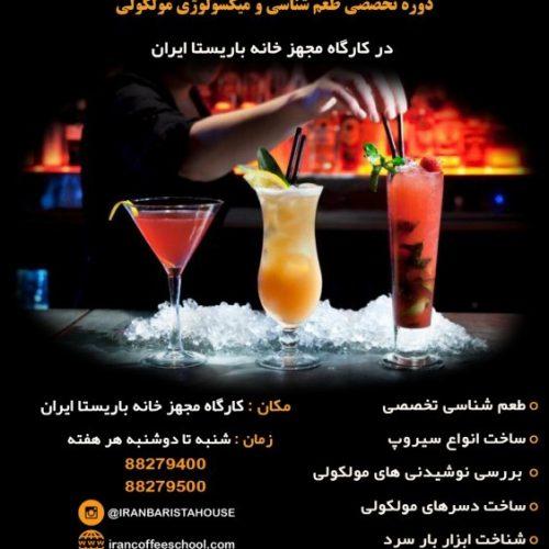 دوره تخصصی طعم شناسی و میکسولوژی مولکولی در کارگاه مجهز خانه باریستا ایران