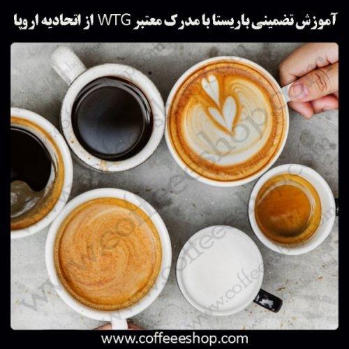 آموزش حرفه ای قهوه، باریستا و مدیریت کافی شاپ با مدرک معتبرWTG ازاتحادیه اروپا