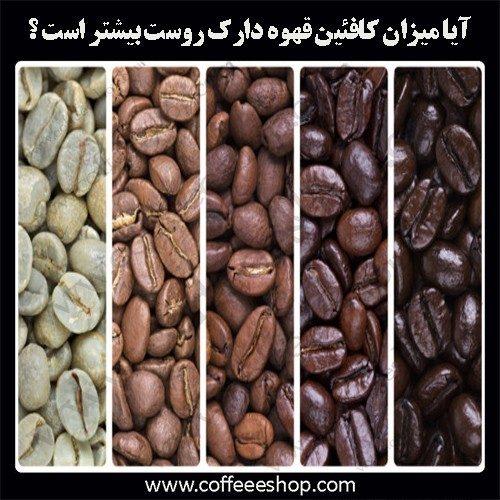 رابطه میزان کافئین و درجه روست قهوه