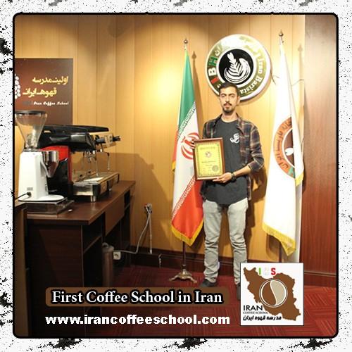 نوید نوروزی مدرک بین المللی لاته آرت | آموزش طراحی روی قهوه - لته آرت