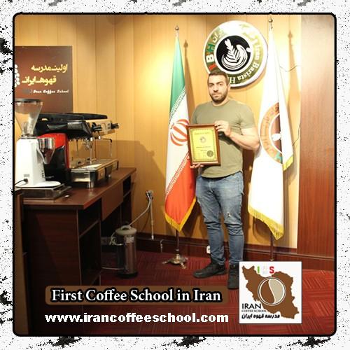 هاشم فرجی شهریور مدرک بین المللی لاته آرت   آموزش طراحی روی قهوه - لته آرت