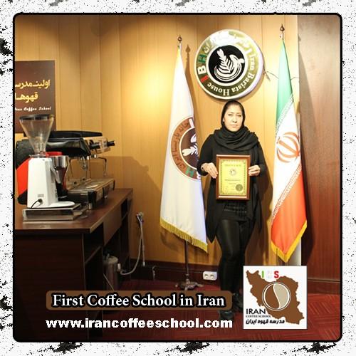 رایا فاتحی مدرک بین المللی لاته آرت   آموزش طراحی روی قهوه - لته آرت