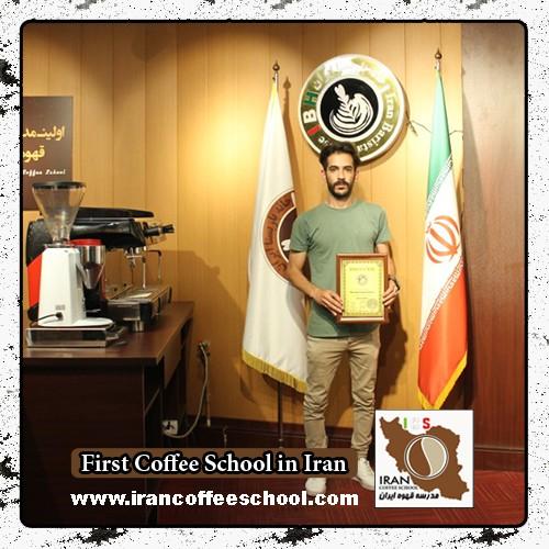 سینا حجازی مدرک بین المللی لاته آرت   آموزش طراحی روی قهوه - لته آرت Latte Art