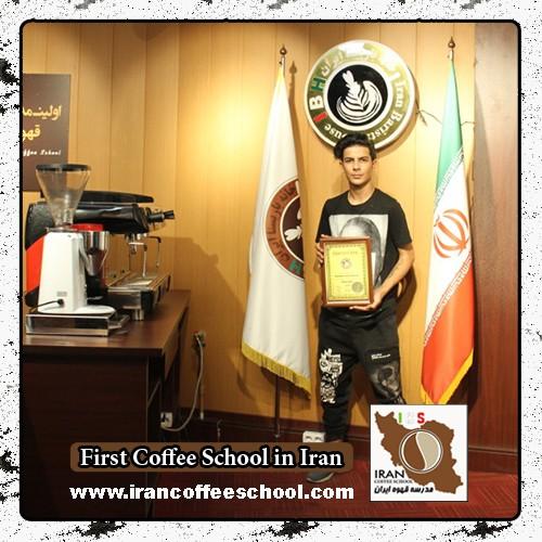 پارسا مهرجو زکابری مدرک بین المللی لاته آرت   آموزش طراحی روی قهوه - لته آرت Latte Art